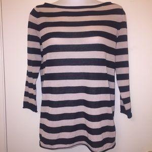 Tory Burch Striped Knit Blouse Size S